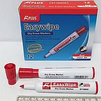 BY106600-RD Маркер Beifa для доски, сухостираемый, красный, скошенный кончик. Красный маркер для доски