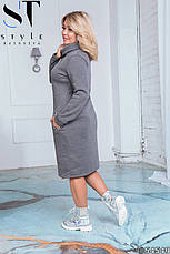 Платье женское теплое большие размеры 50-60, фото 2