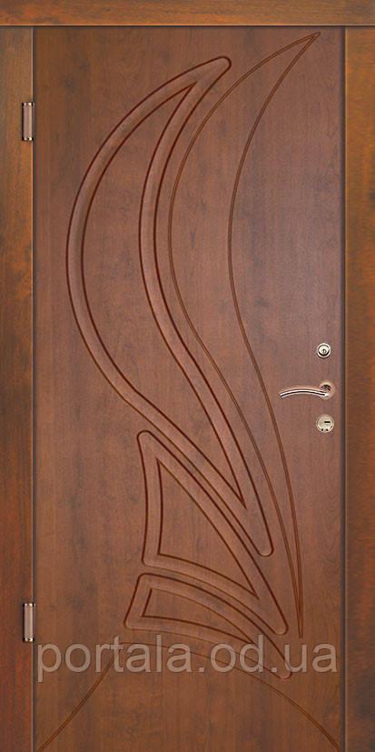 """Входная дверь для улицы """"Портала"""" (Люкс Vinorit) ― модель Корона"""