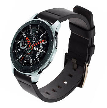 Кожаный ремешок Primo Classic для часов Samsung Galaxy Watch 46 mm SM-R800 - Black