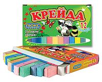 """Мел """"Люкс-Колор"""" цветной квадратный (12 цветов) (70x15x10 мм.)"""