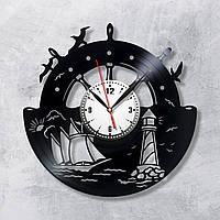 Корабль Шутурвал на часах Открытый океан Море часы Морская тематика Кварцовые часы Безшумный механизм 300 мм