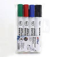 """BY231601 Набор маркеров для доски сухостираемый Beifa """"A+Plus"""" 4 цвета - черный, красный, синий, зеленый"""