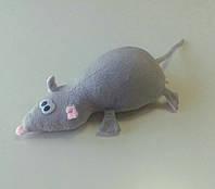 Мягкая игрушка Крыска, 11 х 24 см серая
