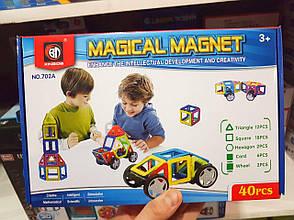 Магнітний конструктор Magical Magnet з колесами, 702А 40 деталей, фото 2