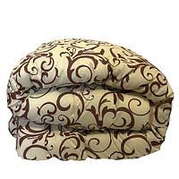 Одеяло Главтекстиль шерстяное размер евро 195*210 вензель беж