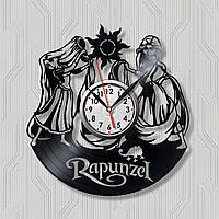 Рапунцель часы Запутанная история Часы с винила Часы в детскую комнату Часы для девочек Диаметр 30 сантиметров