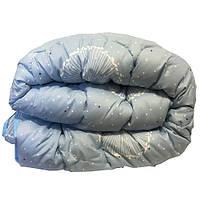 Одеяло Главтекстиль шерстяное размер евро 195*210 голубое