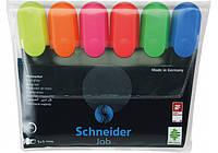 Набор текстовых маркеров Schneider Job 6 шт в блистере