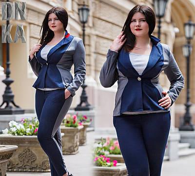 Женский пиджак №26-621 Батал