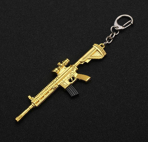 Брелок PUBG 120 мм. Автоматическая винтовка золото., фото 2