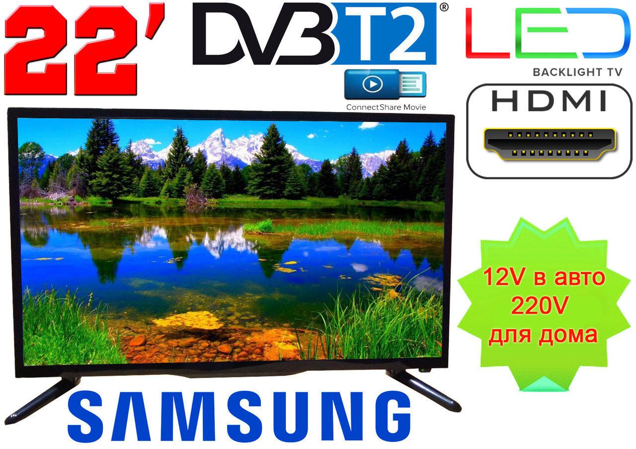 "LED телевизор 22"" Samsung FullHD,DVB T2, USB, Super Slim"