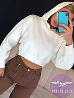Женская худи короткая с капюшоном