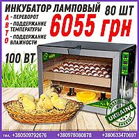 Инкубатор ламповый на 80 яиц с автопереворотом, фото 1
