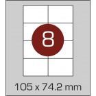 Этикетка самоклеящаяся А4 (8 шт на листе) 105х74,2мм 100 листов