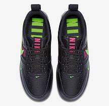 Мужские кроссовки Nike Air Force 1 Low Utility Black Hyper Pink Scream Green CQ4611-001, фото 2