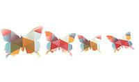 """Наклейка на стену """"12 шт. 3D бабочки наклейки """"разноцветные треугольники"""""""