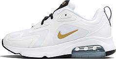 Мужские кроссовки Nike Air Max 200 White Metallic Gold AT6175-102
