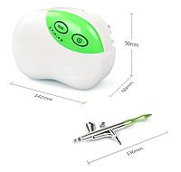 Аэрограф с компрессором для дизайна ногтей, кулинарии и бодиарта ROYALMAX