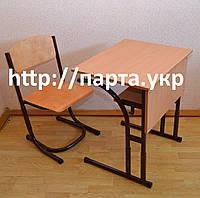 Парта и стол растущие на металлокаркасе., фото 1