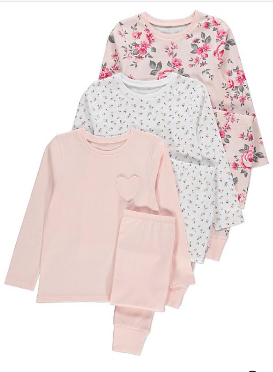 Пижама для девочки Цветочный принт George (Англия) р.146 (10-11лет)