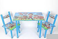 Детский столик и 2 стульчика, серия мультик, Щенячий патруль, Украина