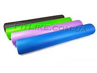 Массажный валик 90 см Elite Size миофасциальный роллер, ролик для массажа спины, мышц, ног