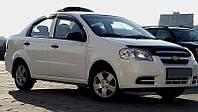 Дефлектор капота Chevrolet Aveo sedan 2006-2011 (ZAZ Vida sedan (ЗАЗ Вида) 2011-2016) (Люкс вариант)
