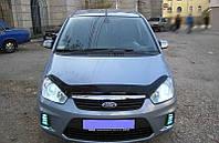 Дефлектор капота Ford Focus C-Max 2007-2011 (Люкс вариант)