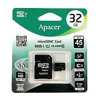 Карта памяти Apacer Micro SD 32GB UHS-I Class 10 + переходник SD