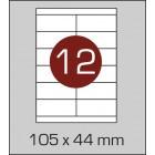 Этикетка самоклеящаяся А4 (12 шт на листе) 105х44мм
