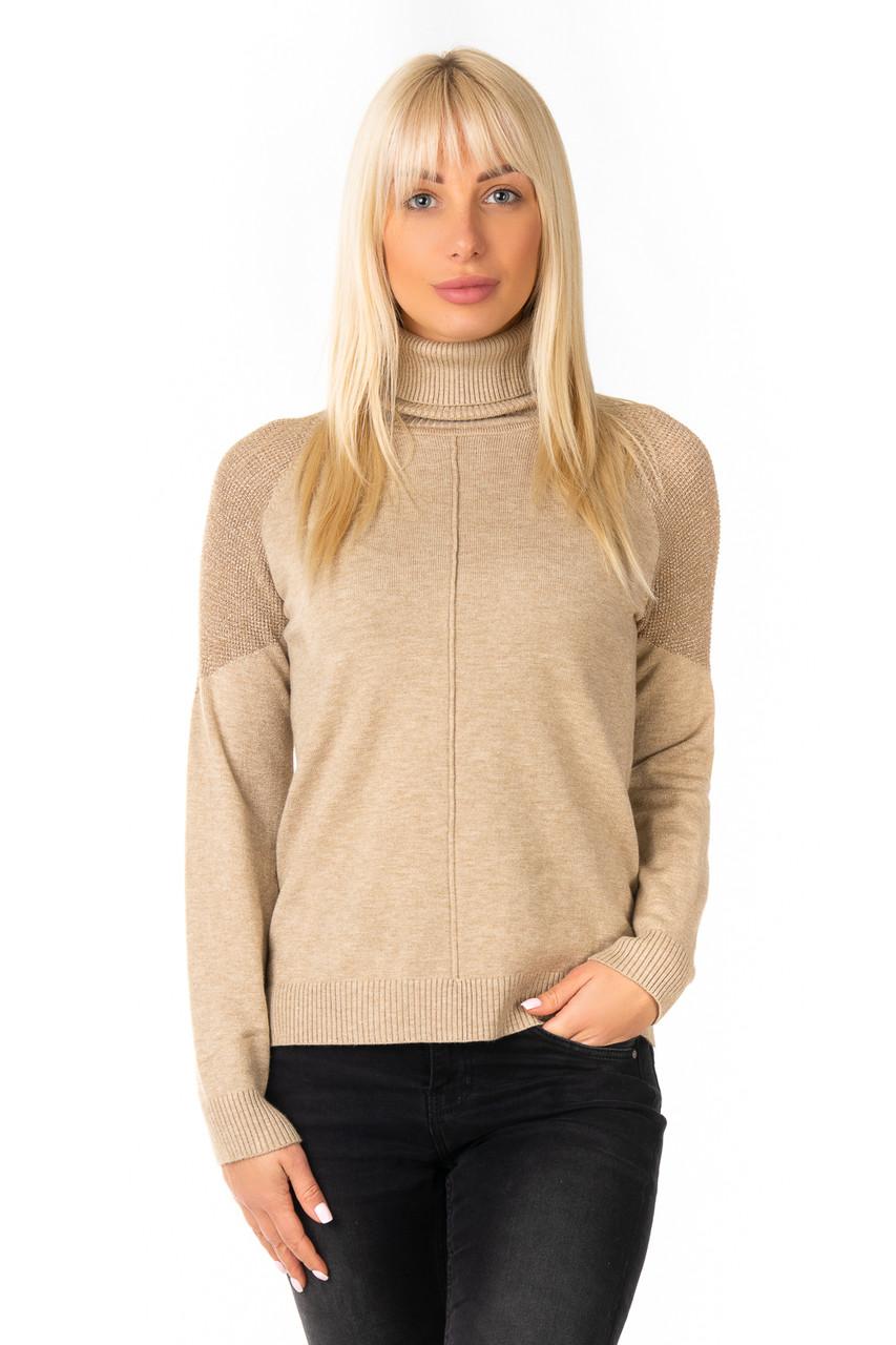 Трикотажный свитер с люрексовыми вставками 44-48 (в расцветках)