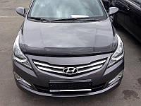 Дефлектор капота Hyundai Accent (Solaris) 2014- (Люкс вариант)
