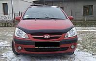 Дефлектор капота Hyundai Getz 2005-2009 (Люкс вариант)