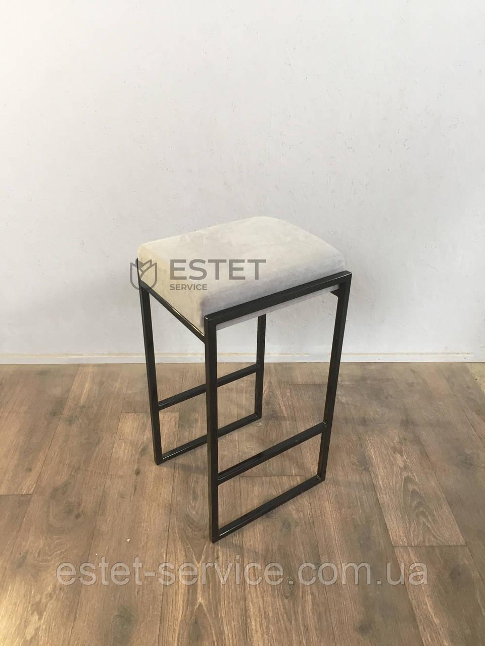 Визажный стул на металлических ножках (черный)