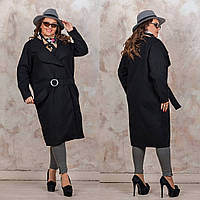 Кашемировое пальто Батал
