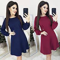 Платье женское повседневное, стильное, модное, короткое, нарядное, расклешенное, с люрексовым напылением, фото 1