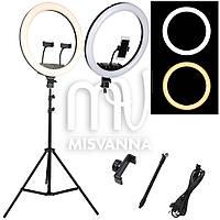 Профессиональная кольцевая лампа MakeUp M-45 с штатив-треногой для косметологии