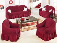 Защитный чехол на диван и кресла из эластичной ткани крэш. Golden Турция