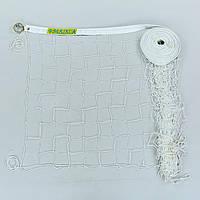 Сетка для волейбола Премиум10  (PP 2,5мм, р-р 9,5x1м, ячейка 10x10см, метал. трос)