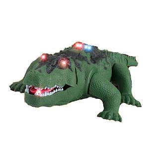 Крокодил на радіокеруванні, зі світловими і звуковими ефектами, F139, фото 2