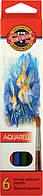 Набор цветных акварельных карандашей 6 шт. KOH-I-NOOR AQUARELL