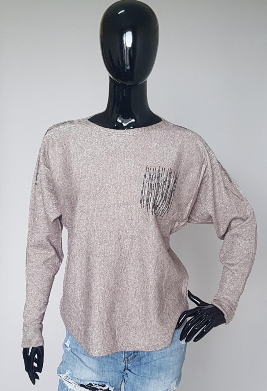 Женская праздничная блузка с люресом