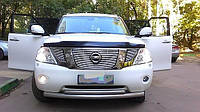 Дефлектор капота Nissan Patrol 2010-2016 (Y62)  (Люкс вариант)