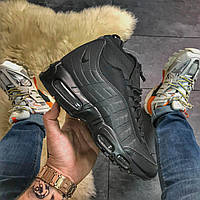 Зимние кроссовки Nike Air Max 95 Sneakerboot Black Waterproof, фото 1