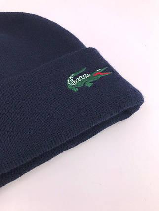 Женская шапка в стиле Lacoste зимняя / демисезонная, фото 2