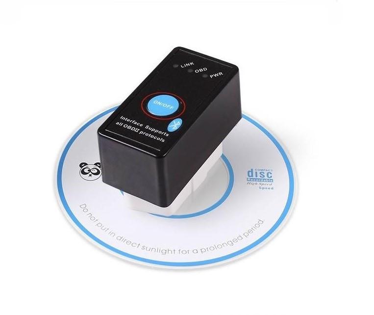 Автомобильный диагностический сканер - адаптер ELM327 OBDII v1.5 ( PIC18F25K80 ) Bluetooth с кнопкой