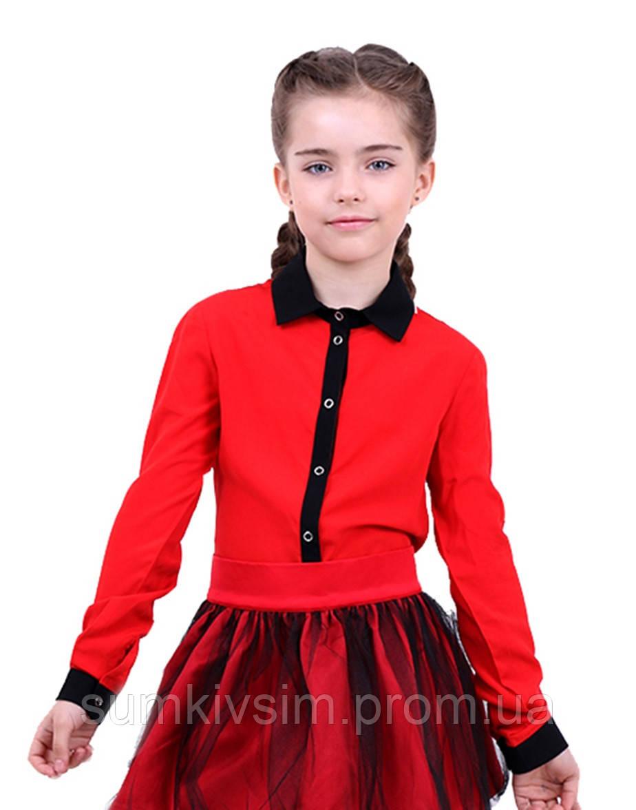 Т Блуза Klara B029047 - Красно-черная, фото 1