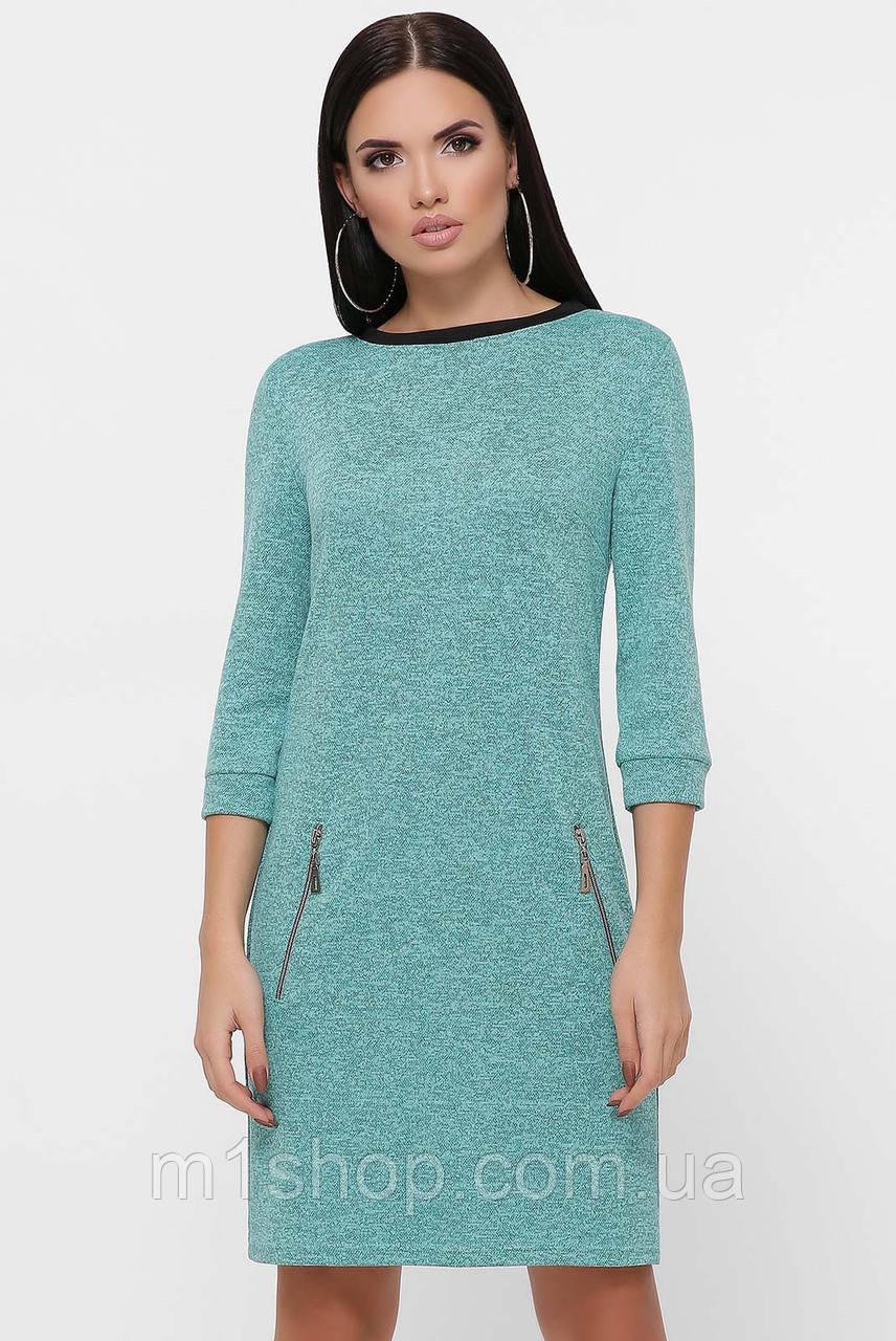 Женское трикотажное меланжевое платье (Juliana fup)