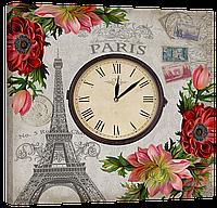 Настенные часы на холсте Декор Карпаты Provance D9 (Qxnc46061)